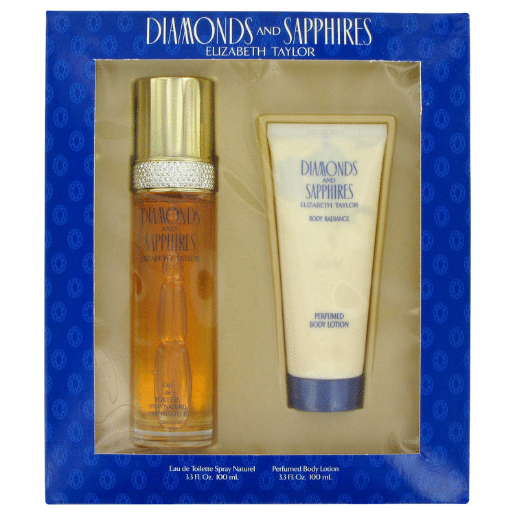 Diamonds & Sapphires Perfume by Elizabeth Taylor Gift Set