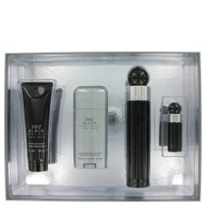 Perry Ellis 360 Black Cologne by Perry Ellis Gift Set