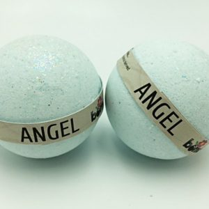 Hand Crafted  All Natural Luxury Angel Bath Bomb embed with Deep Blue + Glitter