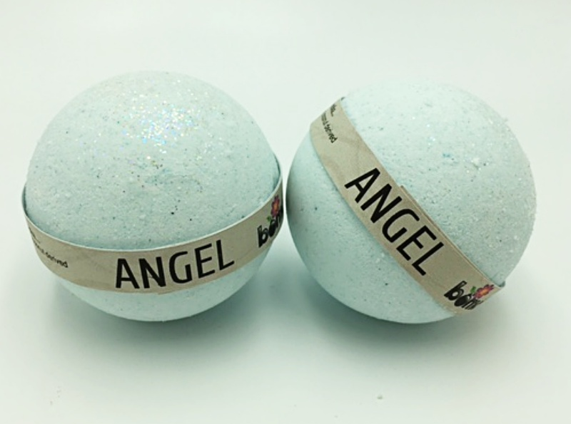 Hand Made All Natural Luxury Angel Bath Bomb embed with Deep Blue + Glitter