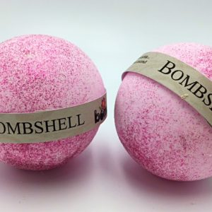Handcrafted  All Natural Luxury Victoria Secret Bombshell Bath Bomb with Pink Glitter