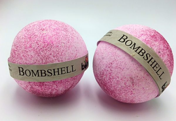 Hand Made All Natural Luxury Victoria Secret Bombshell Bath Bomb with Pink Glitter