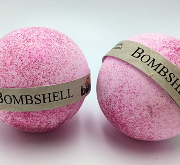 Hand Made All Natural Luxury Victoria Secret Bombshell Bath Bomb with Pink Glitter - Pk of 2