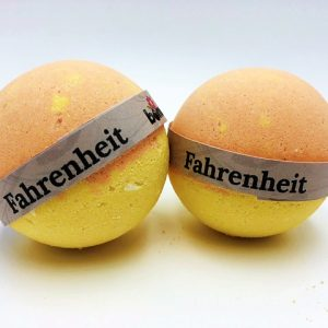 Hand Made All Natural Luxury Fahrenheit Bath Bomb ingrained with Black