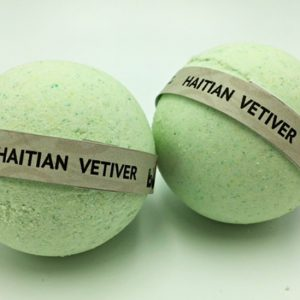 Handcrafted  All Natural Luxury Haitian Vetiver Bath Bomb embed with Black