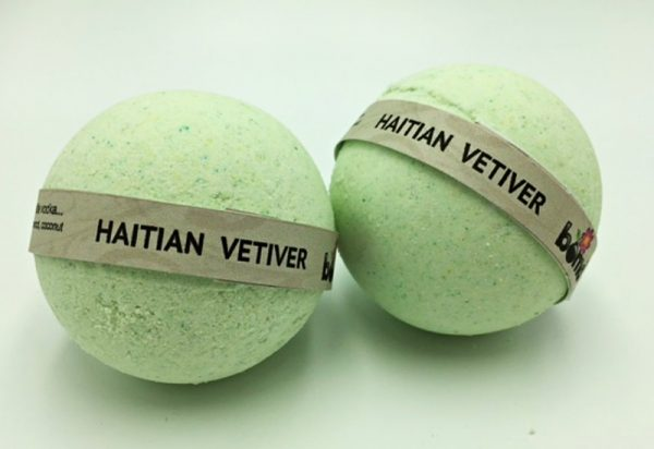 Hand Made All Natural Luxury Haitian Vetiver Bath Bomb embed with Black