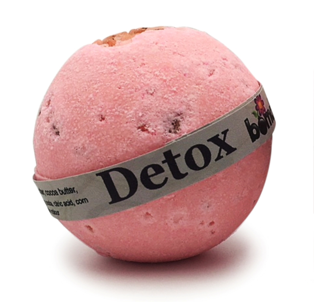 Hand Crafted All Natural Luxury Detox - Pink Rock Salt Bath Bomb 135g