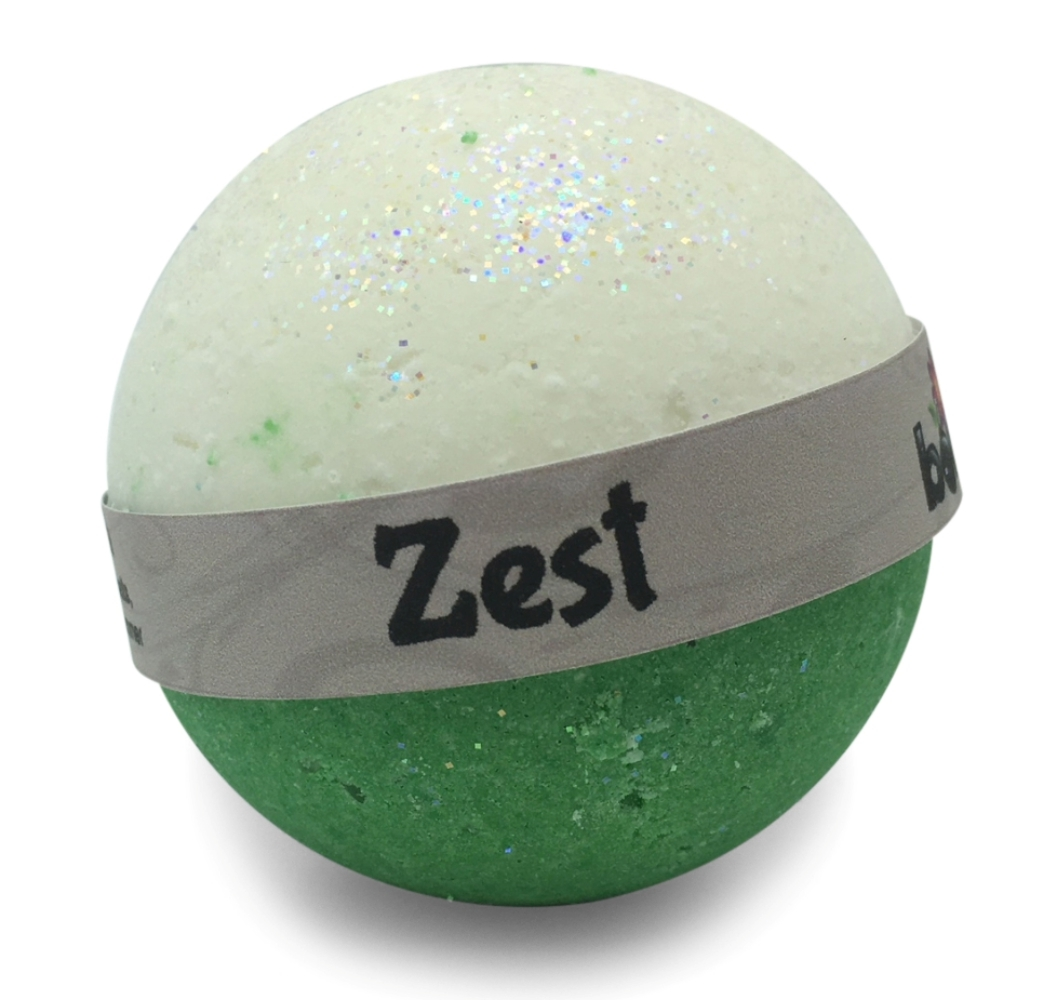 Hand Crafted All Natural Luxury Zest Bath Bomb 135g