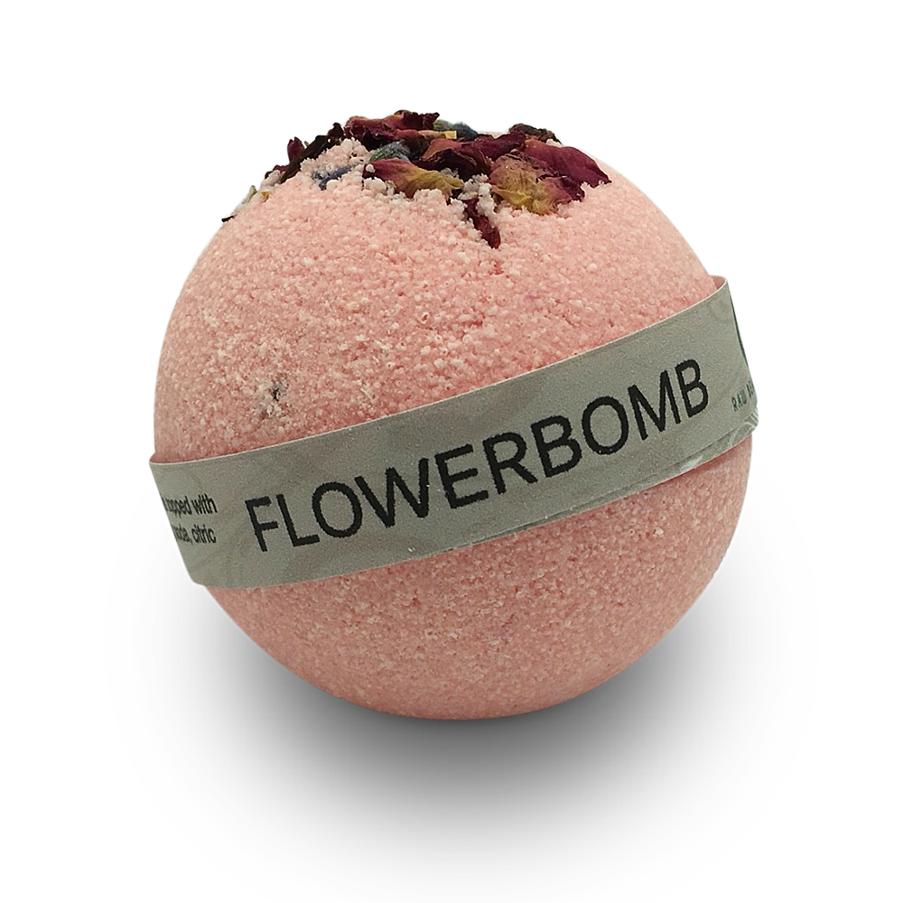 Hand Crafted All Natural Luxury Flowerbomb Bath Bomb 135gm
